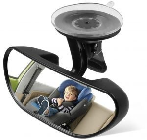 IdeaPro baby car mirror for a car without a headrest in the backseat. One of the most popular baby car mirror no headrest