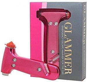 Cute Glammer Hammer car rescue tool for women, car window breaker underwater