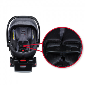 The defective chest clip on the recalled B-Safe 35 infant car seat