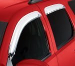 Auto Ventshade Chrome Ventvisor, Car Side Window Deflector