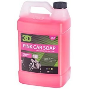 3D Pink Car Soap - 1 Gallon, Car Wash and Cleaner, best soap for foam cannon, best car wash soap for foam gun