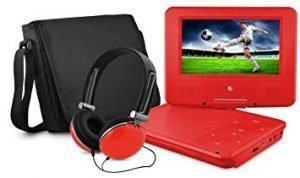 Ematic personal video player 7-Inch swivel screen, headphones and carrying bag