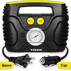 Kensun AC and DC Swift Performance Portable Air Pump for Home and Car, best battery powered air compressors