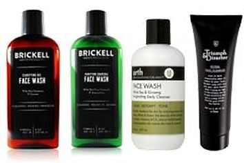 Different types of face washes for men