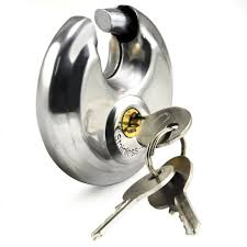 A lock with discus shackle