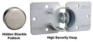 how to lock a hidden shackle padlock