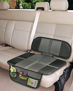 An automobile back seat with the best car seat protector