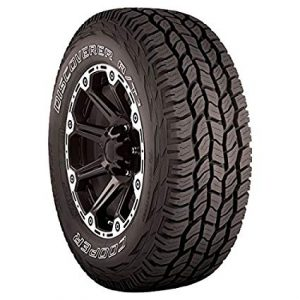 Cooper Discoverer A T3 traction with radiating treads, best all terrain tire for rough terrain