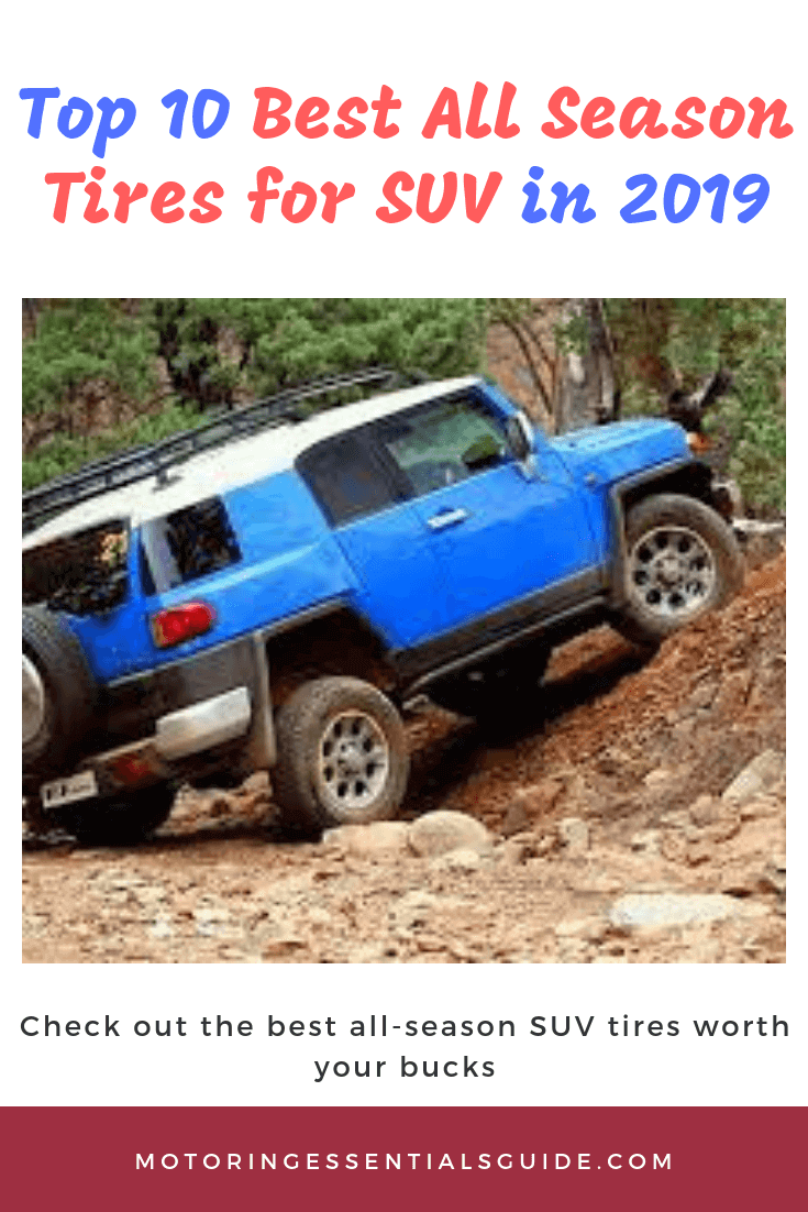 One of the top rated all season tires for SUV