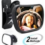 AUTOMIO convex and shatterproof baby car mirror, best baby car mirror for car without a headrest, best baby car mirror for the money