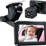 Itomoro Baby Vehicle Mirror, Back Seat Child Car Camera with HD Night Vision Function Car Mirror Display, Reusable Sucker Bracket, Wide-View Angle, 12V Cigarette Lighter, Easily Observe the Baby's Move. One of the best baby car mirrors for cars with center headrest at the backseat