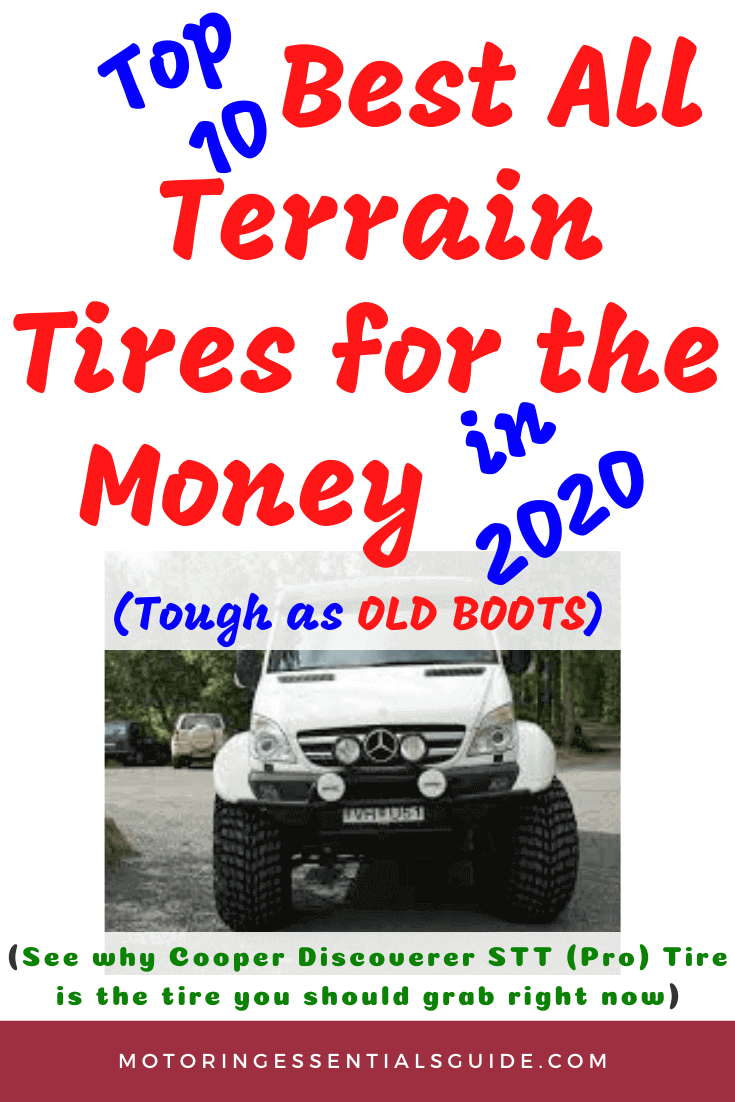 A sorted list of the best budget all terrain tires, best buy all terrain tires. These are top choices for the best all terrain tire for the money, discounted all terrain tires
