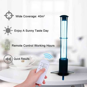 Na's 38W 110V UV sterilization lamp for car, and home with remote control timer, UV and Ozone germicidal and viral portable disinfection, best sanitizer for car