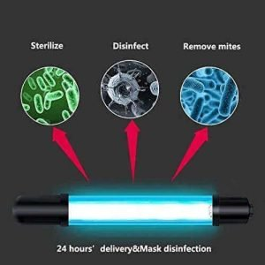 OMMO 11W Best UV Disinfection Lamp, Best UV De-contaminator Travel Wand Without Chemicals for Car, Hotel, Household, Wardrobe, Toilet, best uv wand sanitizer