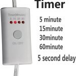 Remote control timer for the Coospider 185nm 6W Light Lamp Bulb for Household and Car use