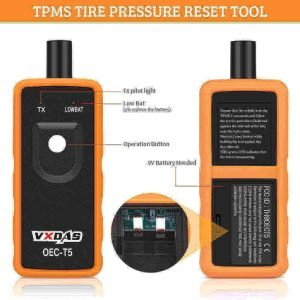VXDAS OEC-T5 car TPMS sensor, relearn, reset, diagnostic and activation kit for GM series vehicles, best GM tpms tool
