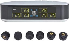 INFITARY RV TPMS for Truck, Trailer, Real Time Monitoring of Tire Pressure, Temperature, Air Leakage, and Battery Charge.