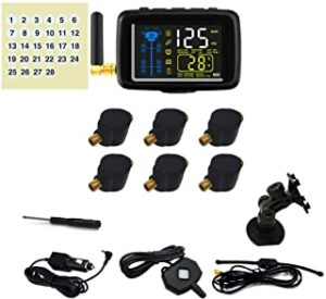 Tire-Safeguard RV 6-Tire Flow-Through Sensor TPMS, best tire pressure monitoring system for RV