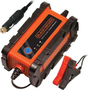 BLACK+DECKER BC2WBD Automatic 2 Amp 12V Waterproof Battery Charger, Maintainer, best car battery tender