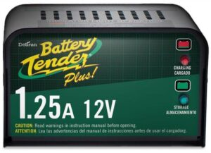 Deltran Battery Tender Plus Charger and Maintainer- 12V, 1.25 Amp, Best Battery Tender for Car, Motorcycles, ATVs, UTVs and more. Best battery tender for car in storage
