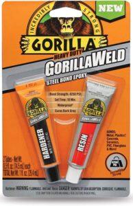 Gorilla Heavy Duty GorillaWeld Steel Bond 2-Part Epoxy, best epoxy for cracked engine
