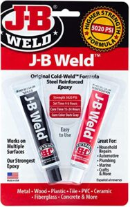 J-B Weld 8265S Original Cold-Weld Steel Reinforced Epoxy, best epoxy for cracked engine block, best epoxy for aluminum engine block, best epoxy for cast iron engine block