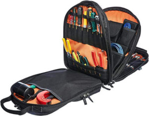 AmazonBasics Durable, Padded Tool Bag Backpack, 75 Pockets, best tool bags on the market, best mechanic tool backpack