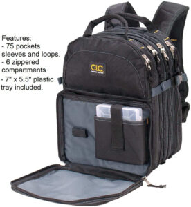 CLC Custom LeatherCraft 1132 75-Pocket Tool Backpack, one of the best tool bag for mechanic, best tool bags on the market, best tool bags on the market
