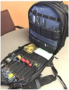 Mechanic Tool Bag Backpack Electrician Technician Heavy Duty Multi Truck Utility Tech & eBook by OISTRIA, best backpack for tools