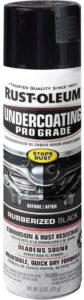 Rust-Oleum 248656 Professional Grade Rubberized Undercoating Spray, 15 oz, Black Shine. best rubberized undercoating, best rubberized undercoating spray