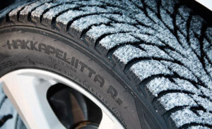 Non-studded snow tires. Studless winter tire for snow