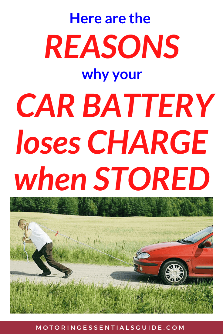 Why does a vehicle battery lose charge